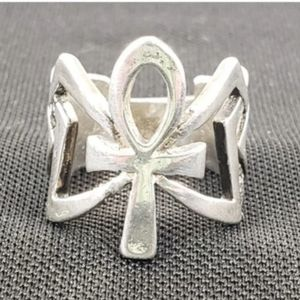 Ankh Cross Thick Bold Ring Religious 9